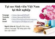Tại sao sinh viên Việt Nam thất nghiệp cao – định hướng nghề nghiệp