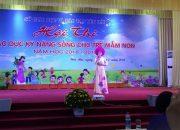 chào mừng hội thi giáo dục kỹ năng sống cho trẻ mầm non trường Mầm Non Thực Hành Yên Bái