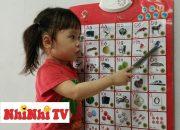 Giáo dục kỹ năng sống trẻ mầm non l NhiNhi TV l Em bé 2 tuổi dạy đọc bảng chữ cái và đồ vật