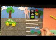 sách vải – dạy trẻ kỹ năng tham gia giao thông – handmade by dzung mac