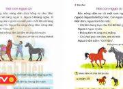 """""""Bóc phốt"""" bài tập đọc """"Hai con ngựa"""" trong SGK tiếng Việt lớp 1   An toàn sống   ANTV"""