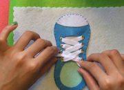Sách vải – Dạy bé buộc dây giày – handmade by dzung mac