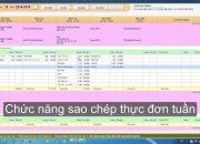 Hướng dẫn phần mềm tính khẩu phần ăn – Phần mềm quản lý mầm non