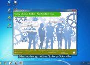 Phần mềm quản lý mầm non – Quản lý giáo viên – Lương và báo cáo