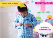Kỹ năng chuẩn bị giờ ngủ   Kỹ năng sống cho trẻ mầm non   Mầm non Abi